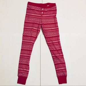 Old Navy Pink Fair Isle Waffle-Knit Leggings